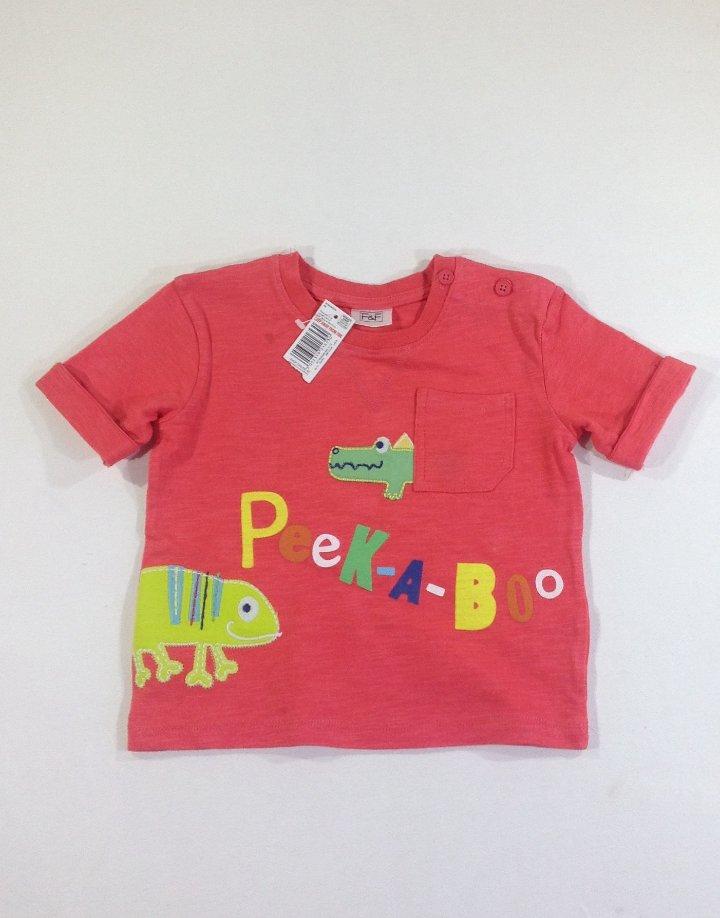 F&F állat mintás baba póló