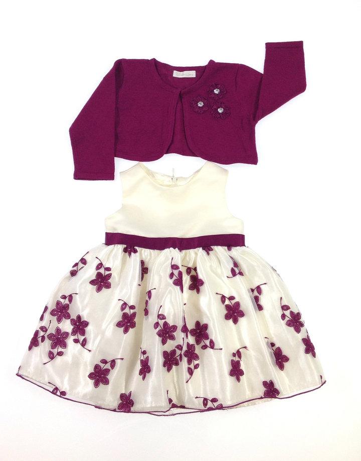 c38efc1a33 Cinderella virág mintás kislány alkalmi ruha boleróval | Gyerekruha Klub ?