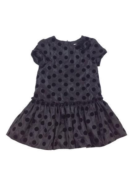 Debenhams fekete pöttyös kislány alkalmi ruha  34c600707c