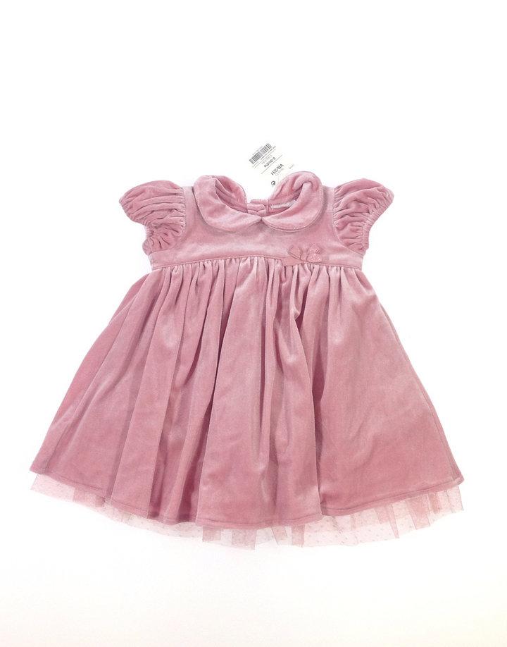 Next rózsaszín bársony baba alkalmi ruha  da3ce3a635