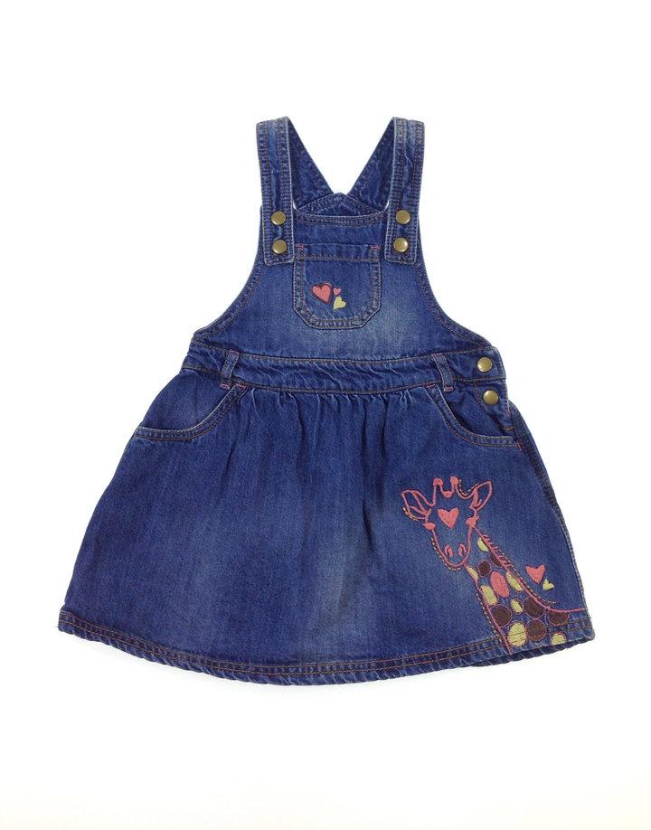 F F zsiráf mintás farmer kislány ruha  8114c98bde