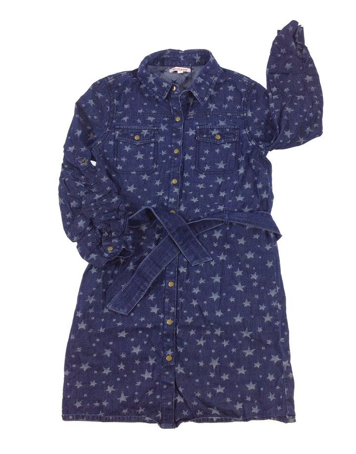 Bluezoo csillag mintás kislány farmer ruha  29082eb94b