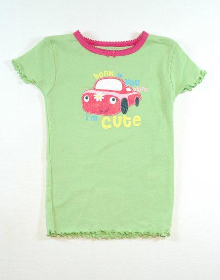 Zöld mintás póló