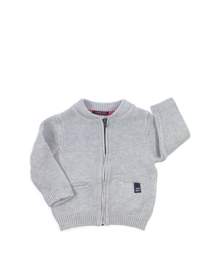 Zara világosszürke baba pulóver  4611cf2c1a