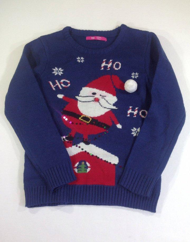 Y.d Mikulás mintás kislány kötött pulóver