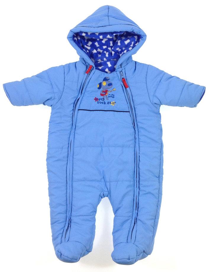 St. Bernard kék baba overál  f0e47ad03f