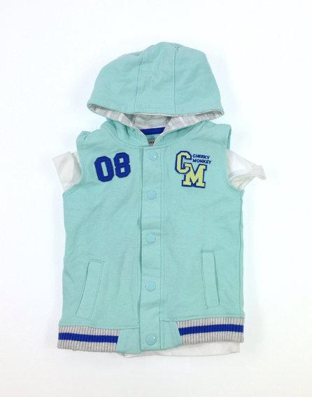 Crafted menta színű baba mellény pólóval  d9e2c5f3bb
