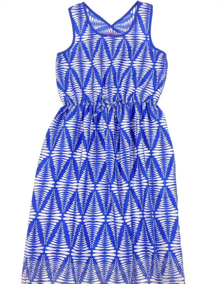 Y. d. kék fehér mintás lány ruha  116a55b496