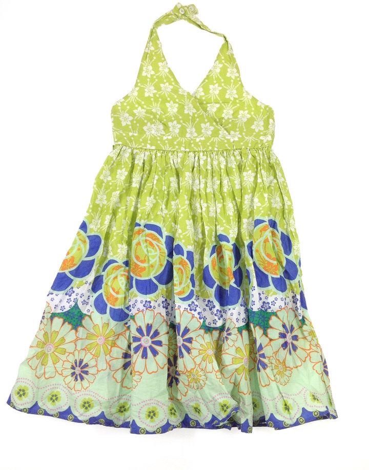 Next virág mintás zöld kislány ruha  378b65da48