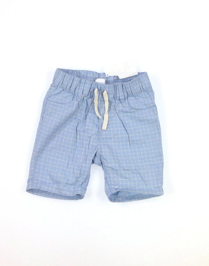 64ba91907c H&M világoskék kockás kisfiú rövidnadrág   Gyerekruha Klub