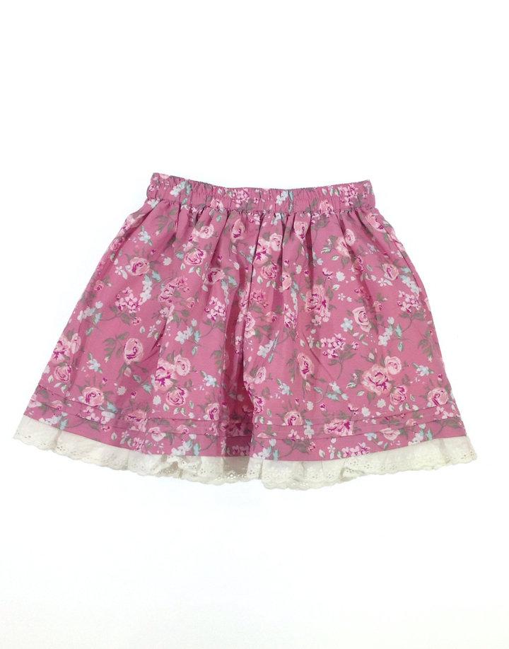 Matalan rózsaszín virágos kislány szoknya  fdc06a340e