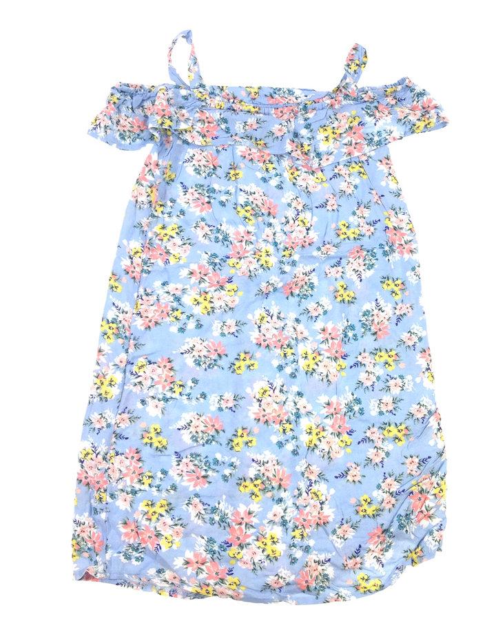 Primark virág mintás kék kislány ruha  6c8b5fd664