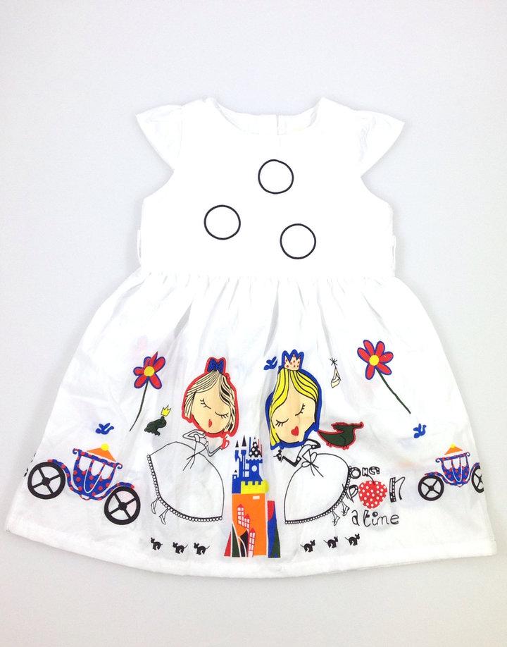 c6850e5312 AiLe Rabbit hercegnő mintás fehér kislány ruha | Gyerekruha Klub ?