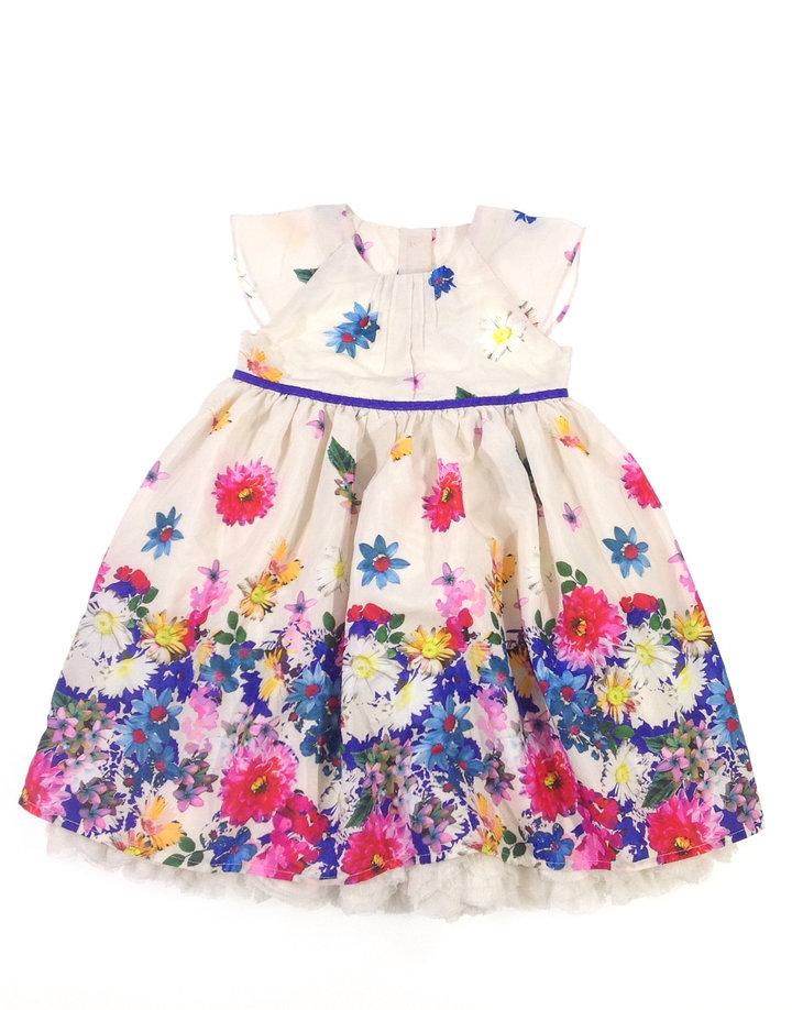 Marks   Spencer virág mintás kislány alkalmi ruha  f735ef646c