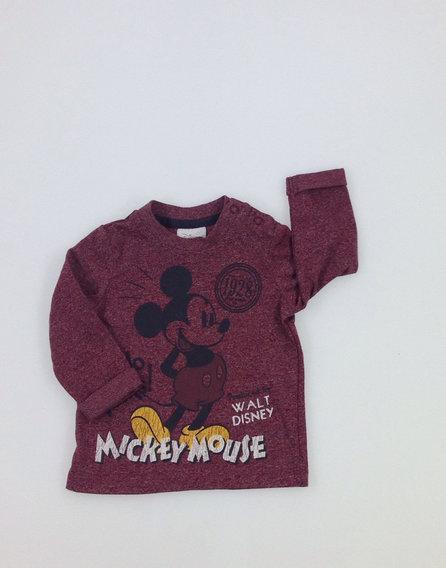 Disney Mickey mintás bordó baba felső 9532dc77fb