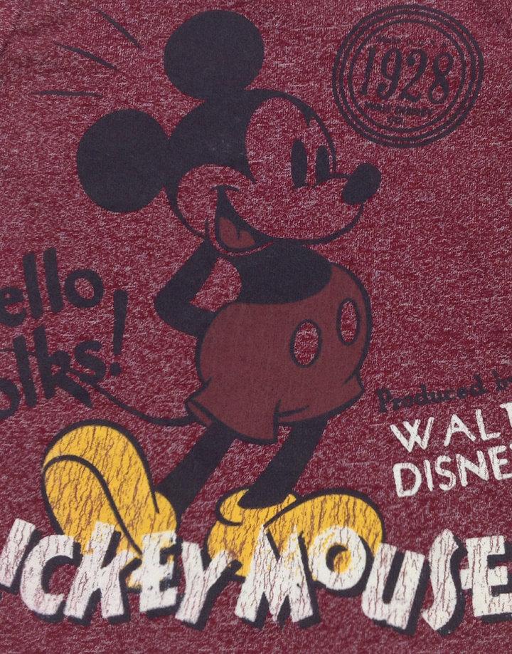 7407196114 Disney Mickey mintás bordó baba felső Disney Mickey mintás bordó baba felső