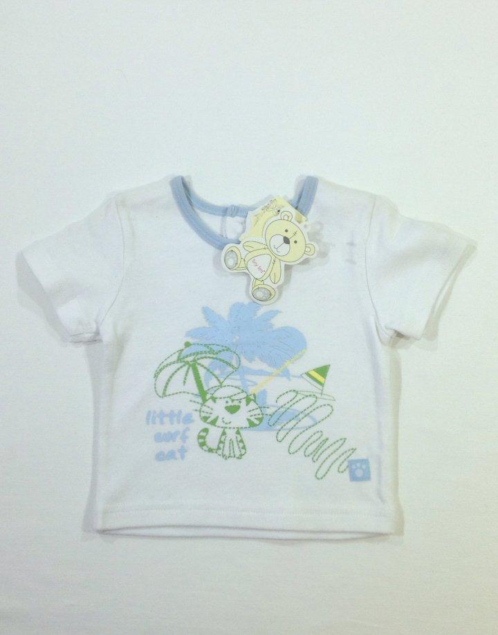 Tiny Ted nyomott mintás baba póló