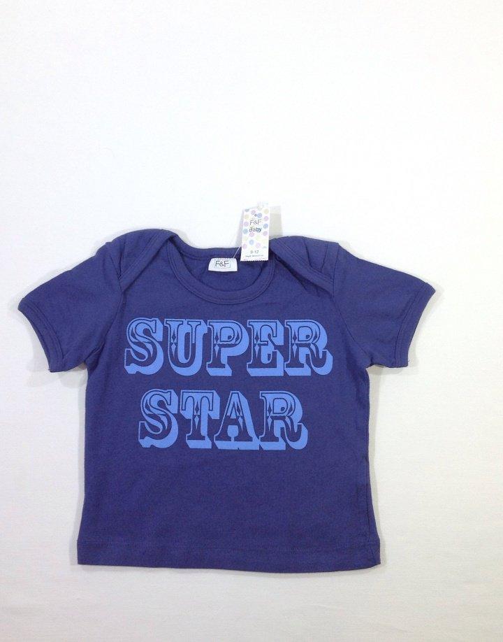 F&F nyomott feliratos baba póló