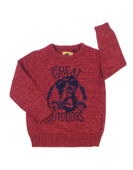TU tégla színű kisfiú pulóver  a0ade719b5