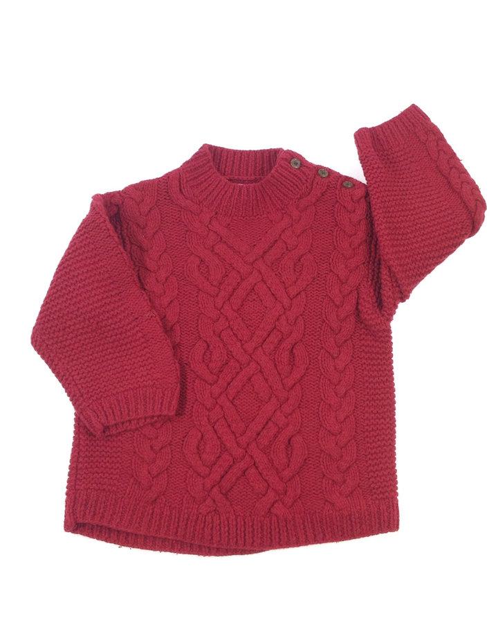 0ff330807a GAP piros vastag kötött kisfiú pulóver | Gyerekruha Klub