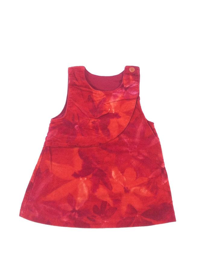 029eabd93b Kanz virág mintás bársony baba ruha | Gyerekruha Klub