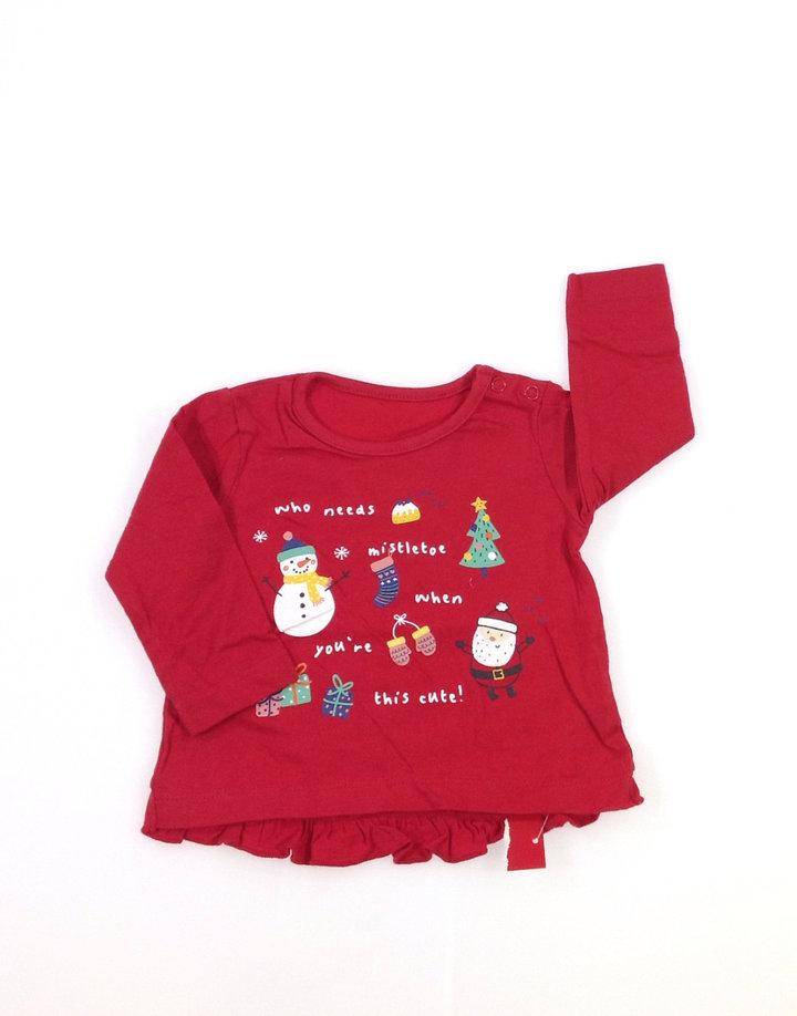 10549ee4e4 St. Bernard karácsony mintás baba felső   Gyerekruha Klub