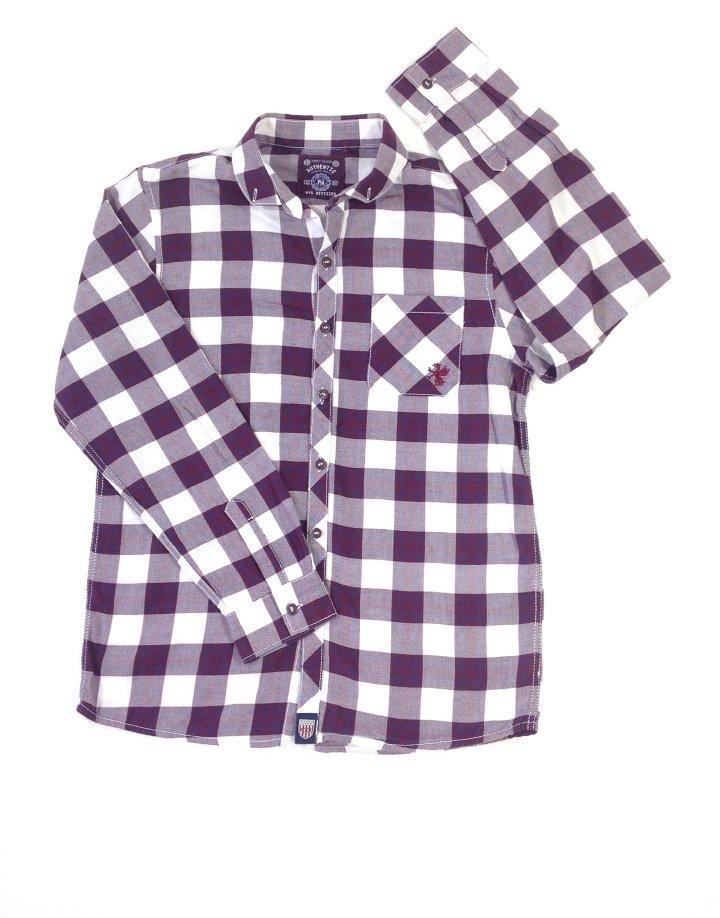 Next kockás könnyű anyagú fiú ing
