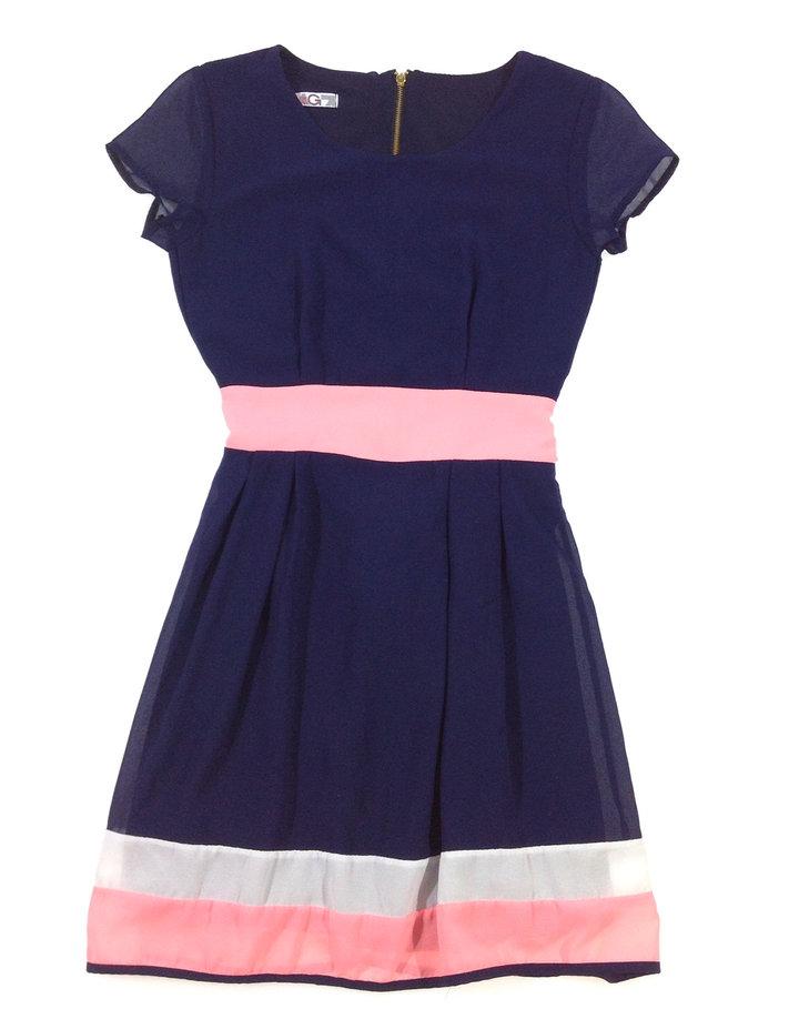 494d8415c5 WalG sötétkék lány elegáns ruha | Gyerekruha Klub
