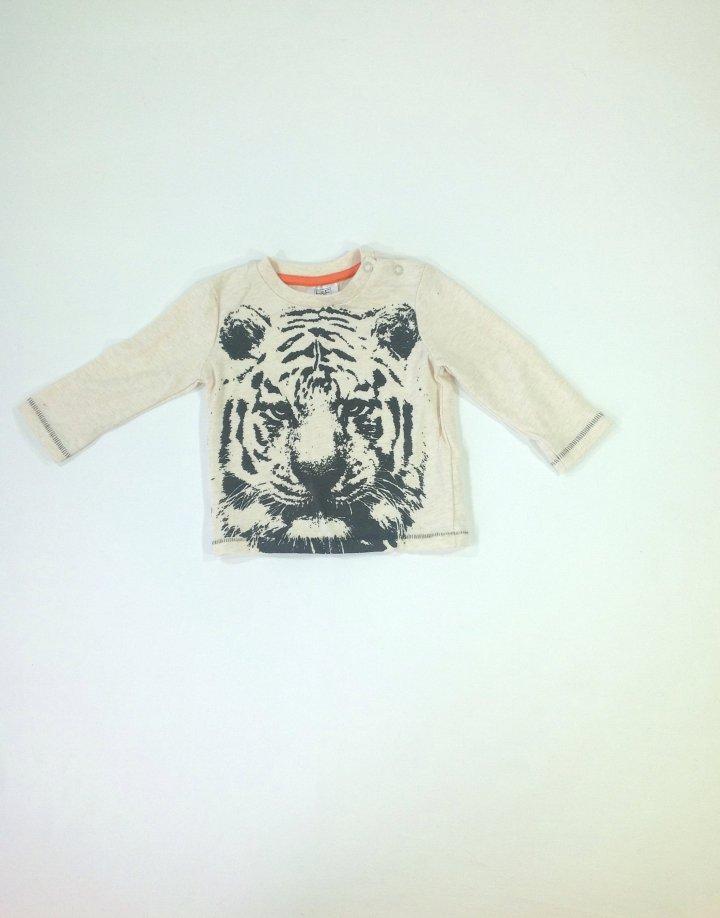F&F tigris mintás baba felső
