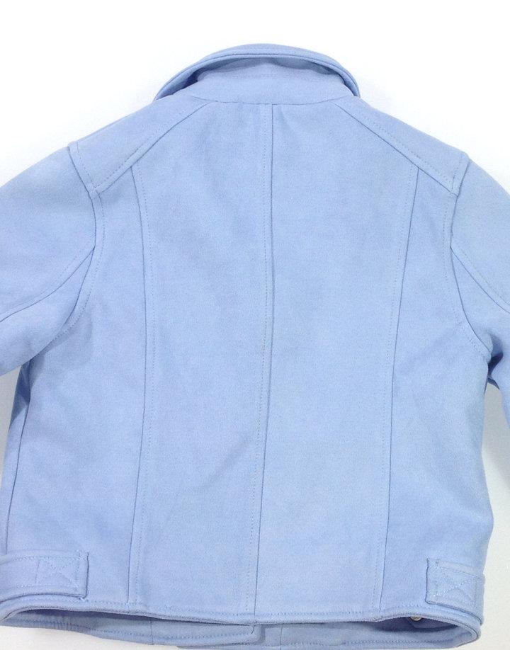 c45354cc77 River Island kék velúrszerű kislány kabát | Gyerekruha Klub