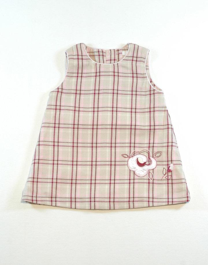 H&M Világos színű kockás ruha