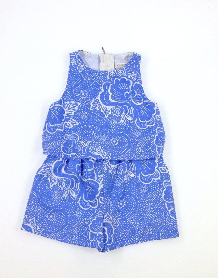 0d7b83094b River Island virág mintás rövidnadrágos ruha   Gyerekruha Klub