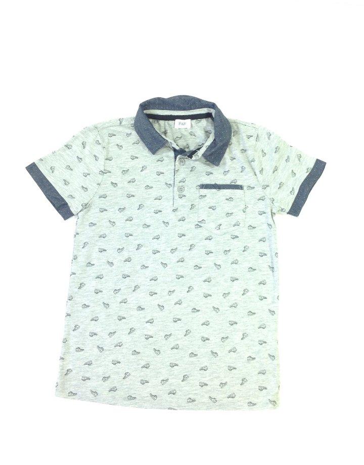 F&F cipő mintás ingszerű póló