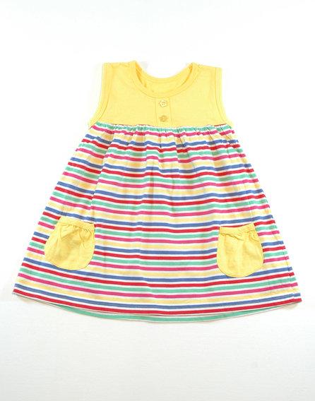 Early days napsugár sárga csíkos nyári ruha