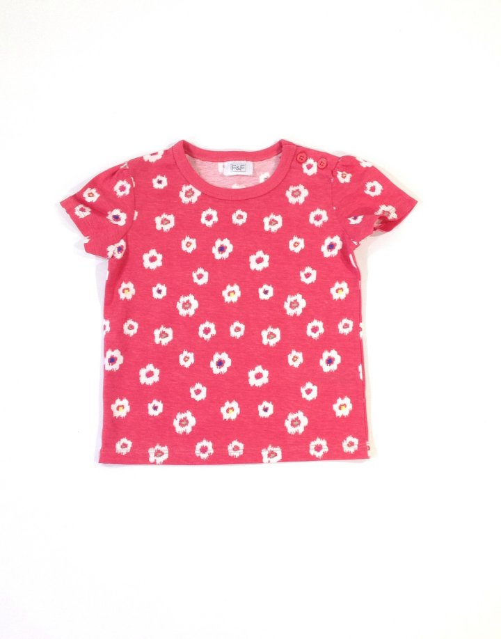 F&F virág mintás baba póló