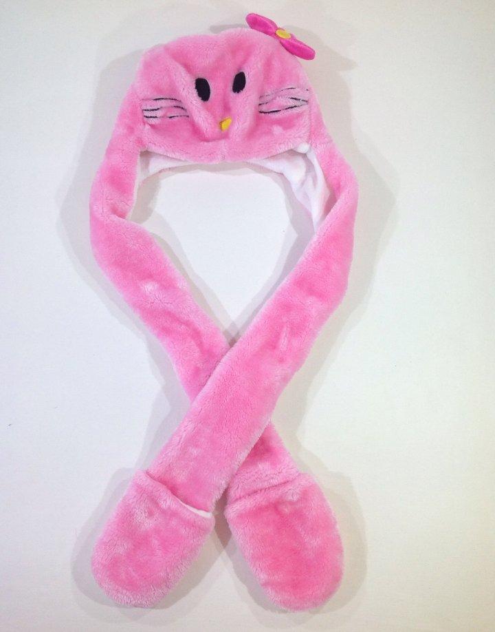 Hello Kitty mintás sapka hosszított sál résszel