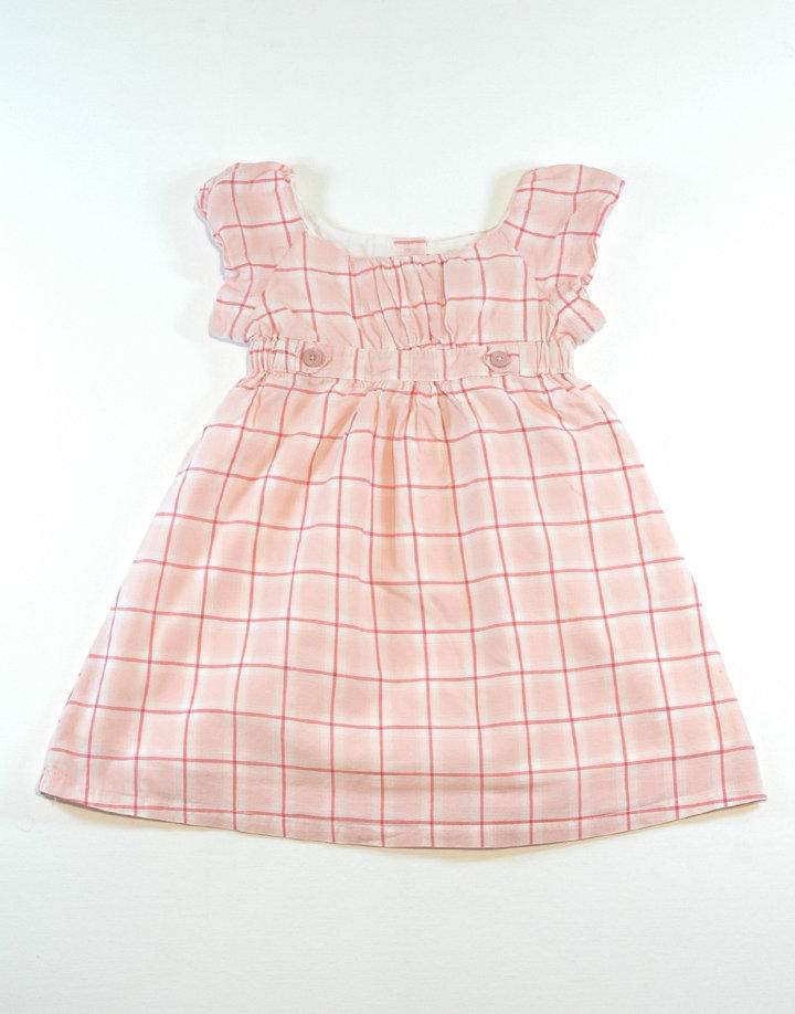 Vertbaudet kockás kislány ruha