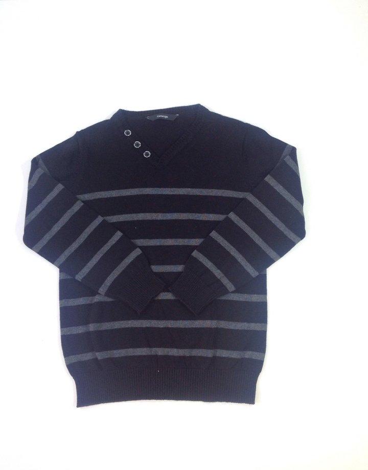 George gépi kötésű csíkos fiú pulóver