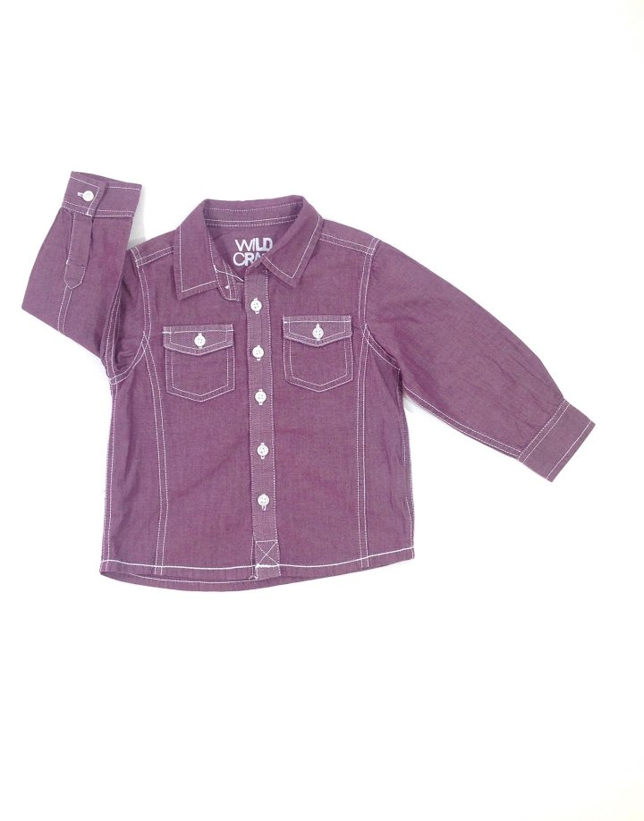 Matalan tégla színű baba ing