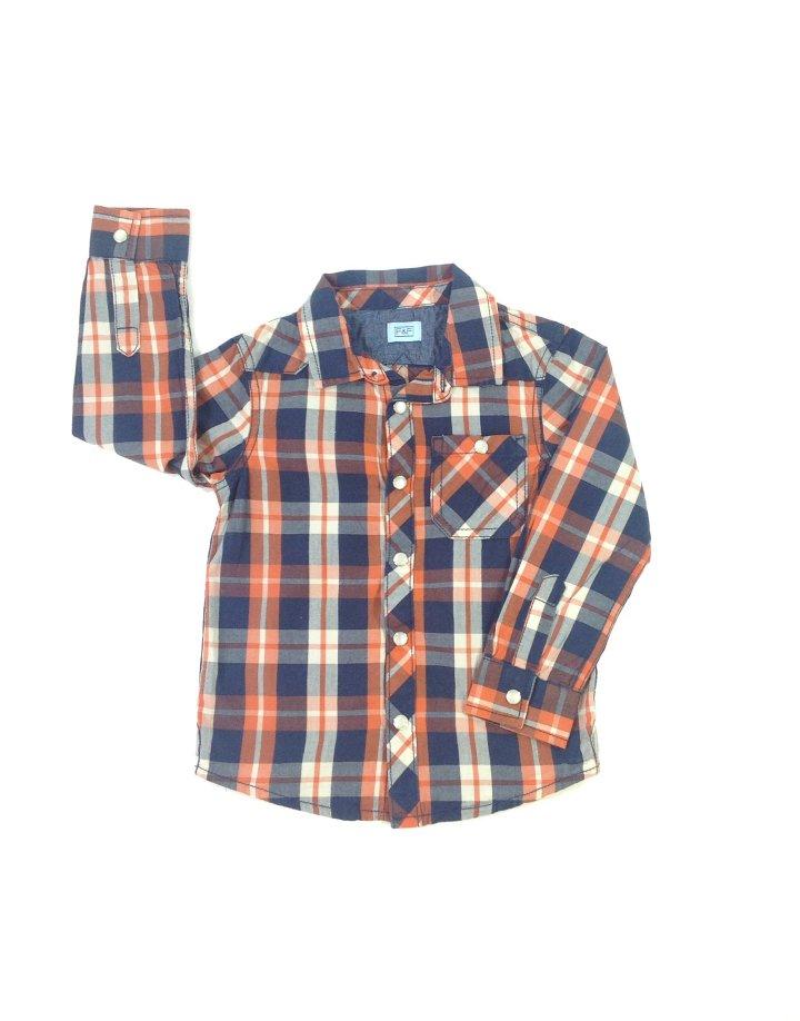 F&F színes kockás fiú ing