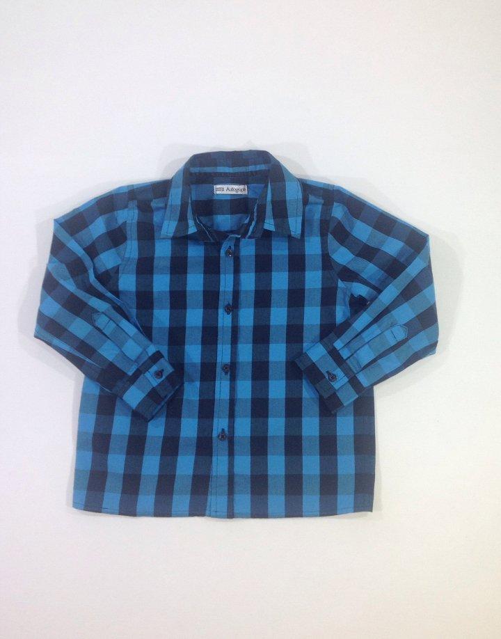 Marks&Spencer kék kockás hosszú ujjú ing