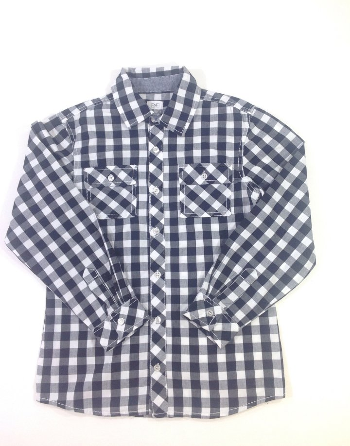 F&F fekete-fehér kockás fiú ing