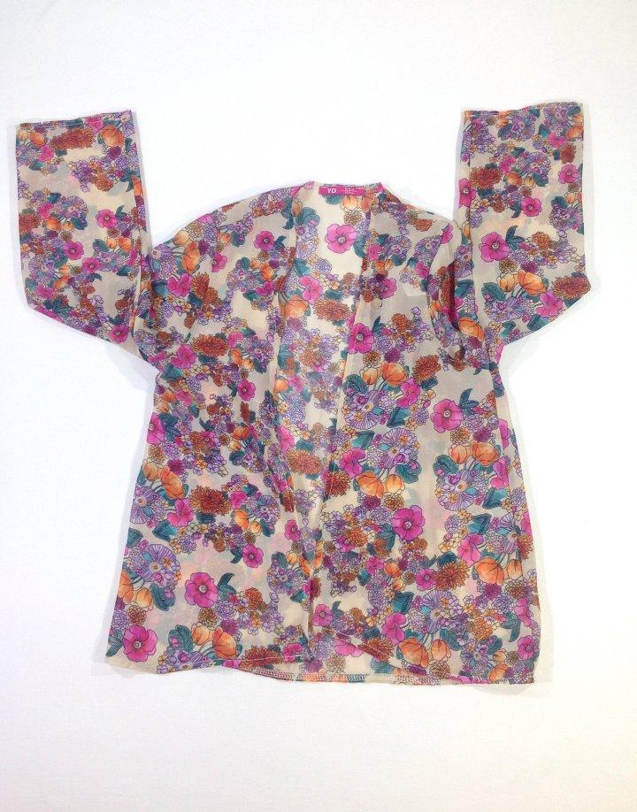 Y.d virágos muszlin anyagú ing