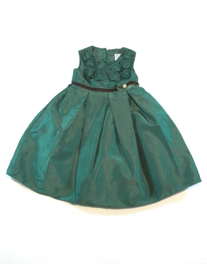 Méregzöld alkalmi ruha