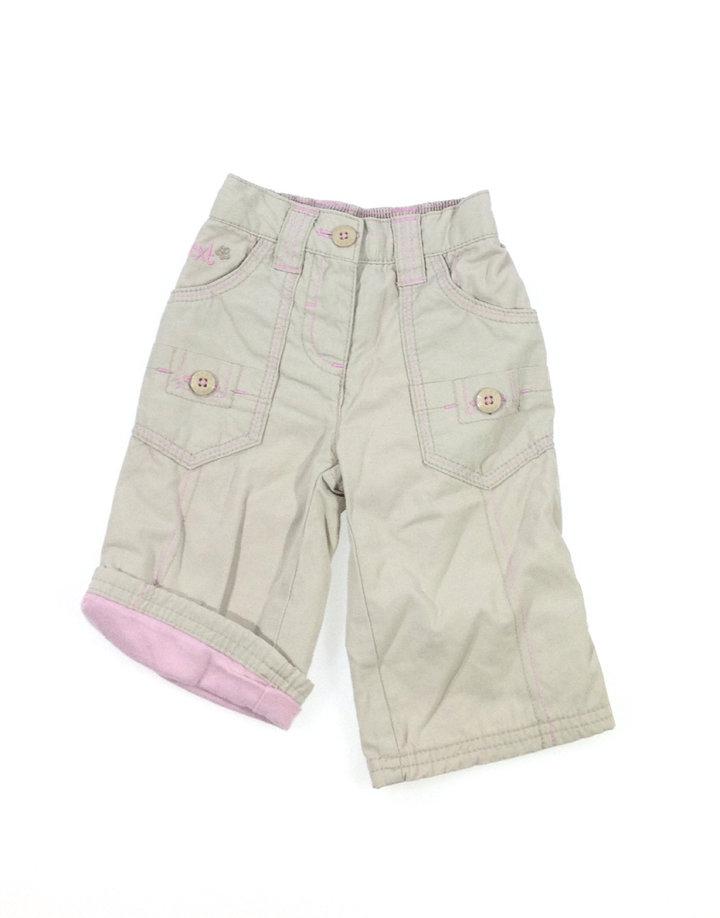NEXT krémszínű nadrág rózsaszín varrással