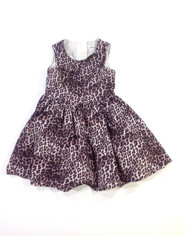 Ladybird leopárd mintás baba alkalmi ruha