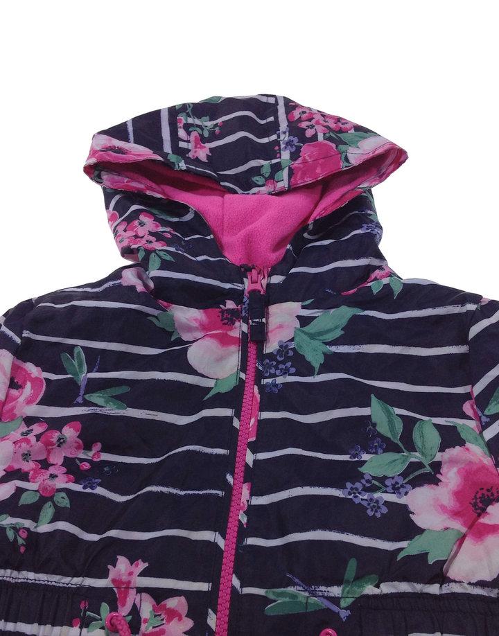 George virág mintás sötétkék kislány kabát   Gyerekruha Klub