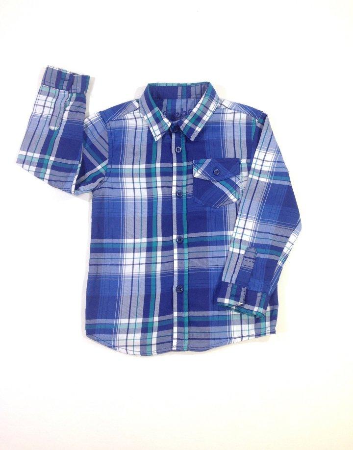 Rebel kék kockás kisfiú ing