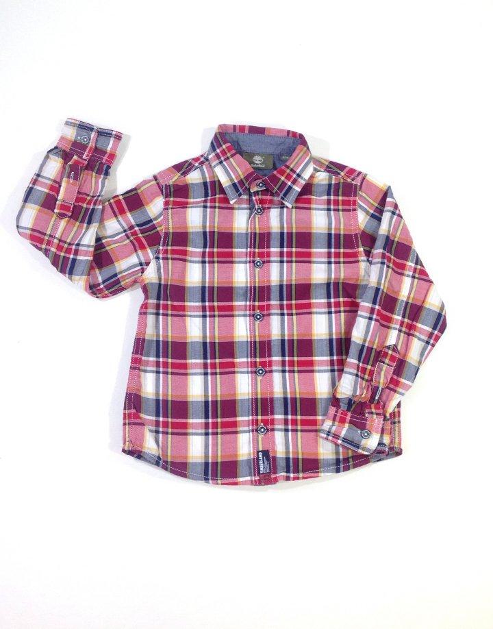 Timberland piros kockás kisfiú ing