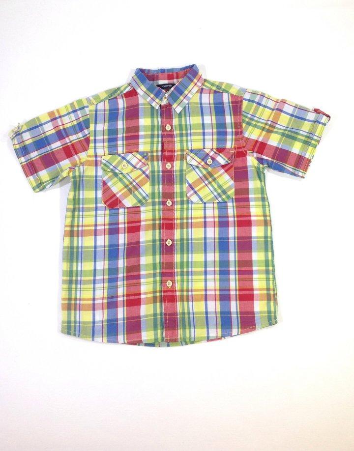 George színes kockás kisfiú ing